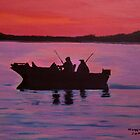 Fishing in the sunset by maggie326