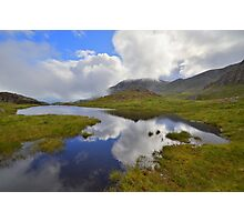 The Lake District: Tarn Reflections on Scafell Photographic Print