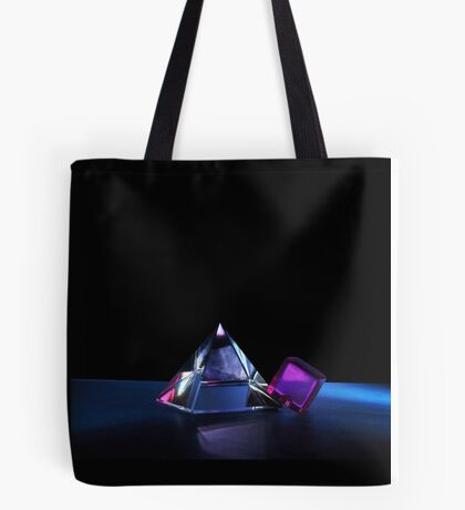 A Purple Cube With A Glass Pyramid Tote Bag