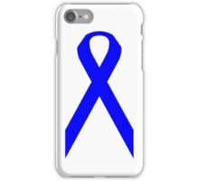 Colon Cancer Awareness ribbon iPhone Case/Skin