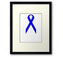 Colon Cancer Awareness ribbon Framed Print