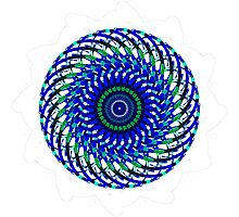 Blue Swirly Photographic Print