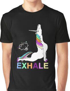 Exhale unicorn Graphic T-Shirt