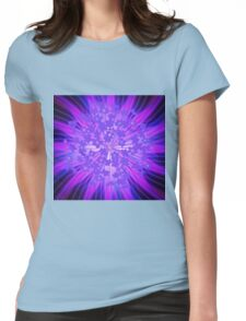 Lavender Flowers in the Sky Womens Fitted T-Shirt