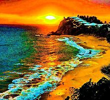 carribean. sunset by kevsue2014