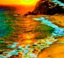 carribean. sunset Sticker