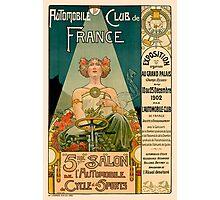 AUTOMOBILE CLUB DE FRANCE; Vintage Auto Print Photographic Print
