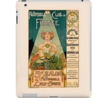 AUTOMOBILE CLUB DE FRANCE; Vintage Auto Print iPad Case/Skin