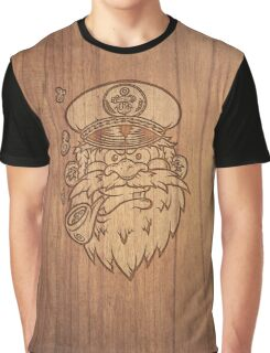 Captain Salty on Wood. Graphic T-Shirt