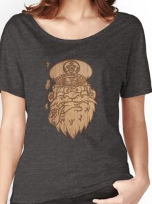 Captain Salty on Wood. Women's Relaxed Fit T-Shirt