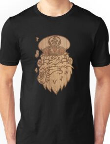Captain Salty on Wood. Unisex T-Shirt