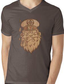 Captain Salty on Wood. Mens V-Neck T-Shirt