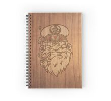 Captain Salty on Wood. Spiral Notebook