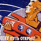The Path Is Open For Humans - Soviet Space by warishellstore