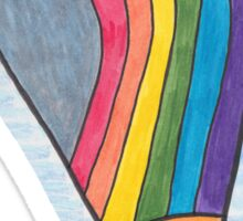 Rainbow Hot Air Balloon Sticker