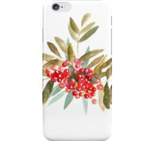 Rowan Berries, Watercolor iPhone Case/Skin