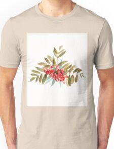 Rowan Berries, Watercolor Unisex T-Shirt