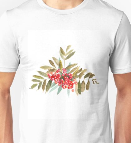 Rowan Berries, Watercolor Unisex T-Shirt