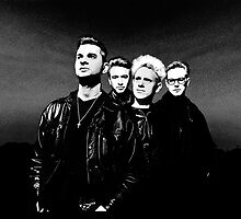 Depeche Mode : 90's Dave, Alan, Martin, Andy Digitalpaint 2 by Luc Lambert