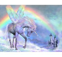 Unicorn Of The Rainbow Photographic Print