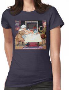 Jack Sprat Vintage Mother Goose Nursery Rhyme Womens Fitted T-Shirt