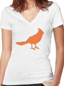 Put a bird on it. Women's Fitted V-Neck T-Shirt