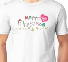 Merry Christmas Word Art Unisex T-Shirt