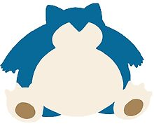 Snorlax coloured silhouette by skoooma