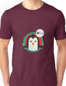 Penguin with cutlery and fish Unisex T-Shirt