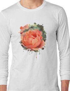 Secret Garden | Peach rose Long Sleeve T-Shirt