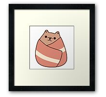 Pupsheen Wrapped in Bacon Framed Print