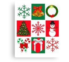 Merry Christmas - Ugly Christmas Sweater Contest. Tacky Christmas Sweater Canvas Print