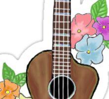 Ukulele With Flowers Sticker