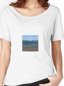 Sailboat on Ocean Water Women's Relaxed Fit T-Shirt