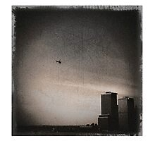 helicopter + manhattan Photographic Print