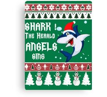 Shark The Herald Angels Sing Canvas Print