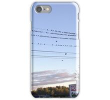 Birds On A Line iPhone Case/Skin