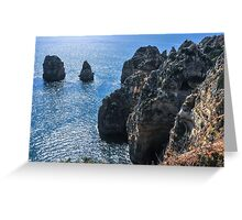 The Algarve rocks Greeting Card