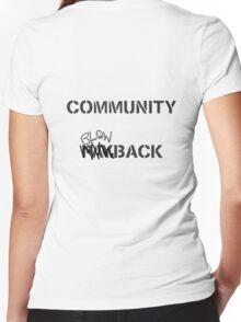 Misfits - Community Blowback Women's Fitted V-Neck T-Shirt