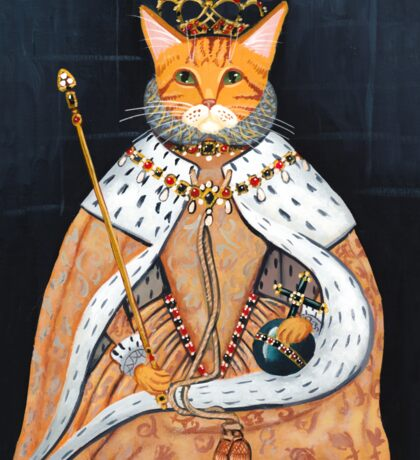 The Coronation - Elizabethan Cat Sticker