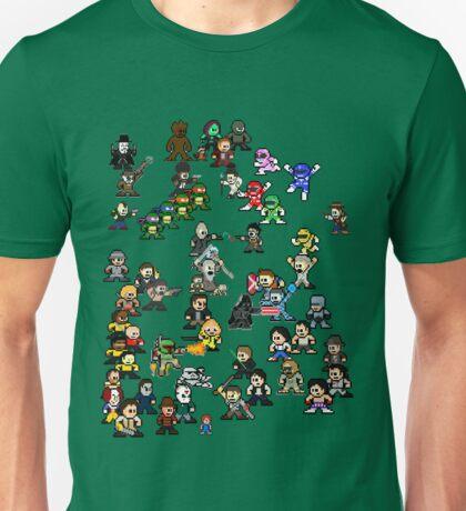 Epic 8-Bit Battle! (Classic Movie/TvShow Character) Unisex T-Shirt