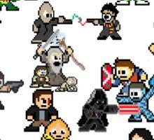 Epic 8-Bit Battle! (Classic Movie/TvShow Character) Sticker