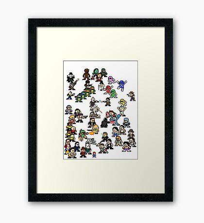 Epic 8-Bit Battle! (Classic Movie/TvShow Character) Framed Print