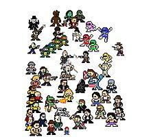 Epic 8-Bit Battle! (Classic Movie/TvShow Character) Photographic Print