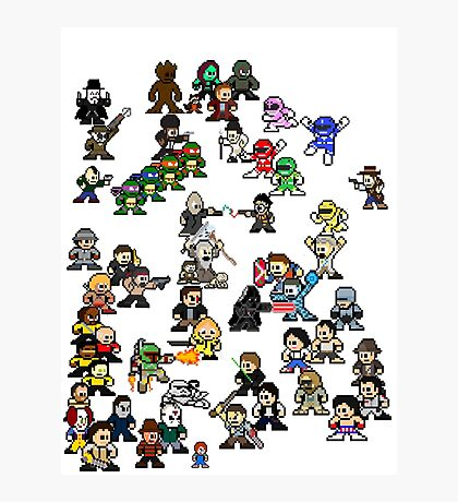 Epic 8-Bit Battle! (Classic Movie/TvShow Character) Photographic Print