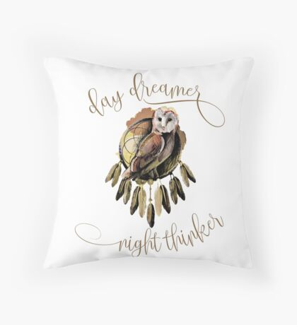 Day Dreamer - Night Thinker Throw Pillow