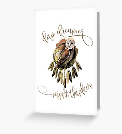 Day Dreamer - Night Thinker Greeting Card
