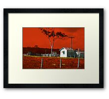 Hunter Red Country Framed Print
