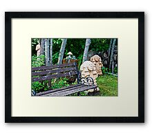 Three If You Look Close  Framed Print