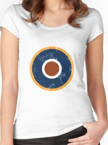 Military Roundels - Royal Air Force - RAF Type C1 Women's Fitted Scoop T-Shirt
